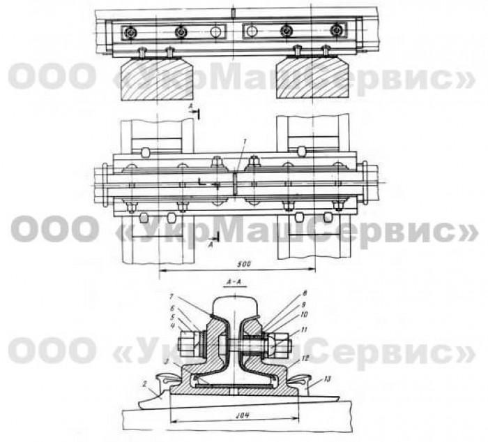 Ізолюючі стики для рейок Р-65 - №1
